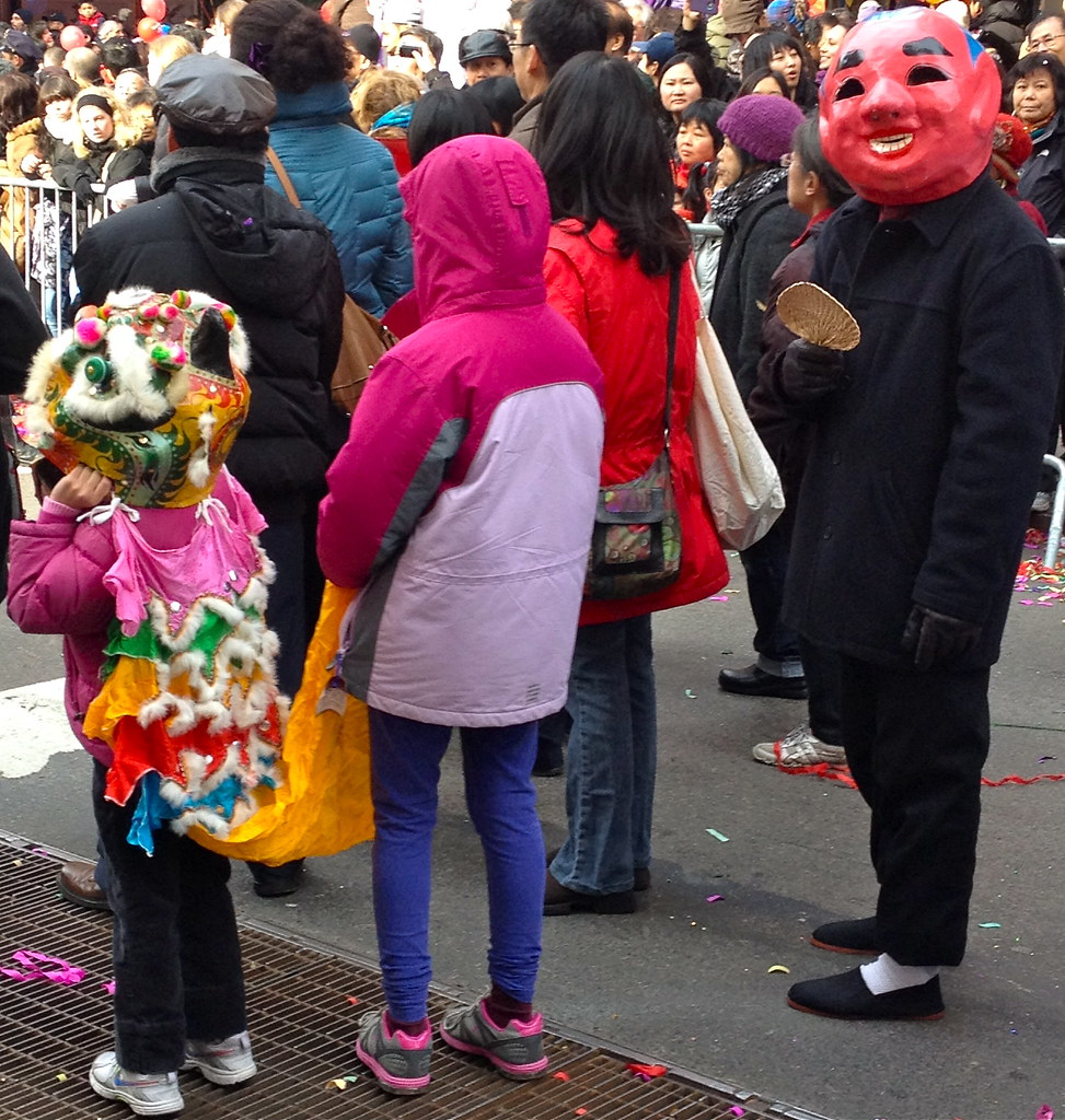 Little Dragon waiting in Chinatown NYC