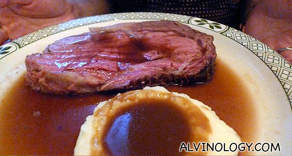 Rachel's steak with mashed potato