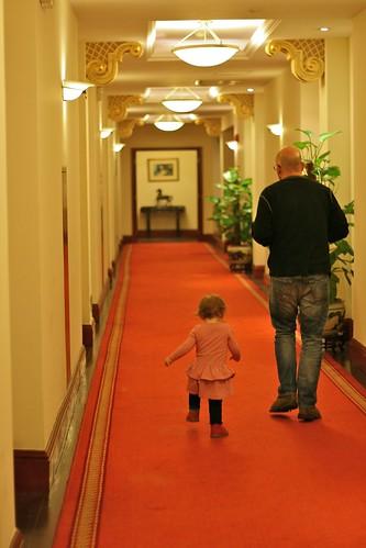 Racing down the corridor