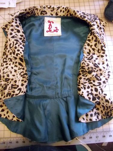 leopard jacket - inside