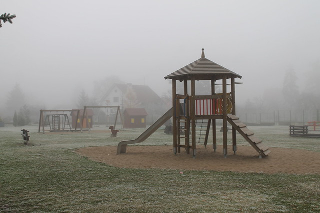 kindergarten playground before hours