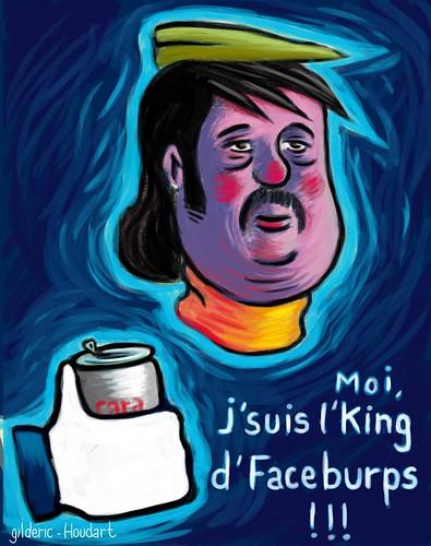 Jean-Michel, King de Faceburps (Dessin : Gilderic)