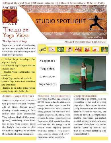 SACREDspace : January 1/2 2012 - Yoga Vidya (pg1) by deZengo