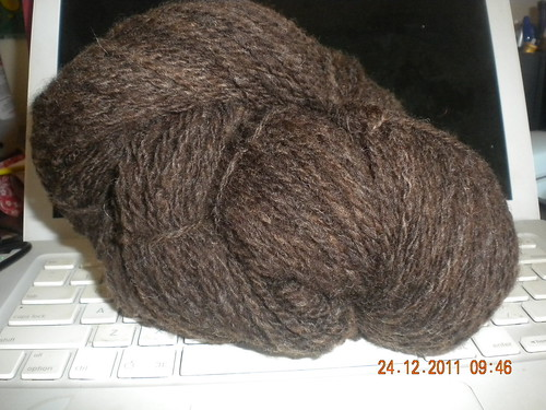 12 WPI Brown Suint Washed 2009 fibre