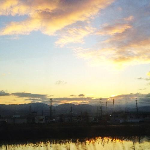 車窓より… 今朝の電車からの景色です。 #iphonography #instagram #iphone4s