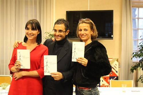 Salon du livre de Saint-Cyr 2011 : Layticia Audibert, Arash Derambarsh, Sandrine Lucchini by Arash Derambarsh