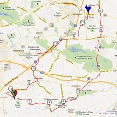 10. Bike Route Map. Hamilton Area YMCA, Crosswicks, NJ