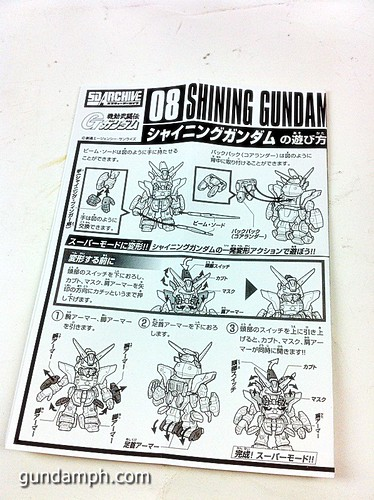 SD Archive Shining Gundam Unboxing Review (13)