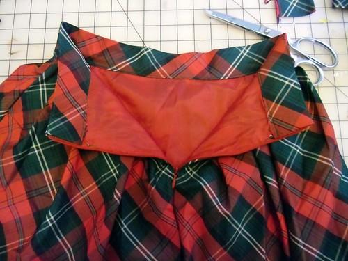 holiday skirt - inside