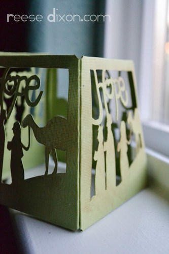 Papercut Nativity Tree Tutorial Step 4