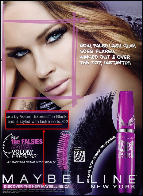 Maybelline Falsies mascara ad