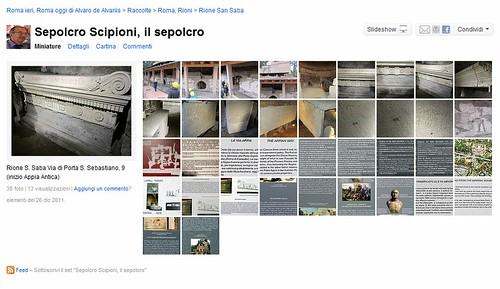 ROMA ARCHEOLOGICA - Sepolcro Scipioni: Informazioni aggiornate: foto, informazioni educative (26/12/2011), e fotografie storiche degli scavi iniziali e restauri nel 1928. by Martin G. Conde