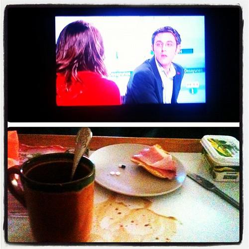 Desayunando con Madina.