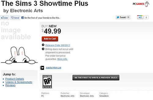 GameStop - Pre-Order The Sims 3 + Showtime