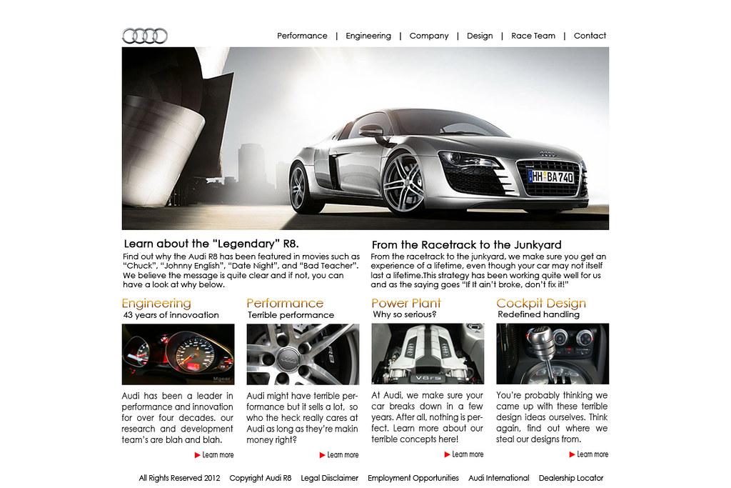Audi R8 Layout 1