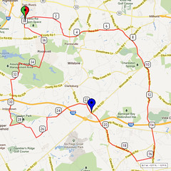 12. Bike Route Map. Etra Lake Park, Hightstown, NJ