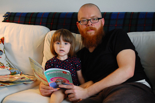 Reading Frances with daddy.