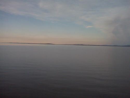 lake champlain, scene from a train by sabonseine