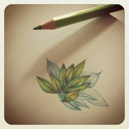 Drawing leaves because I couldn't think of anything else. 