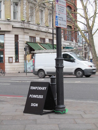 Street Art & Graffiti in Shoreditch - Temporary Pointless Sign