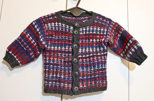 Mosaic Knit Baby Jacket
