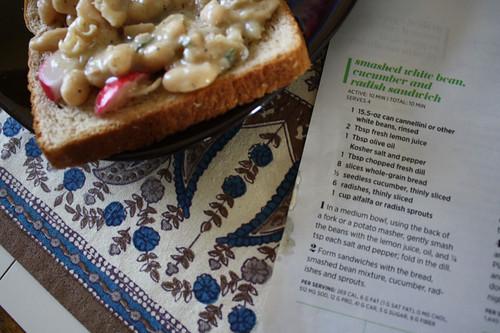 recipe and sandwich