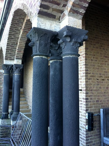 Detail of columns on terrace