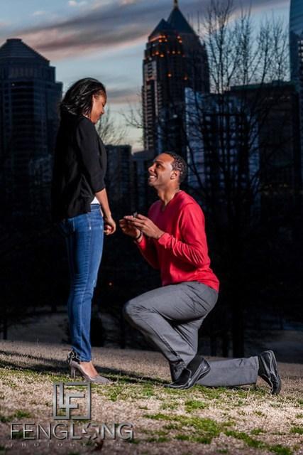 Justin & Nnete's Surprise Engagement Session   Piedmont Park   Atlanta Midtown Wedding Photographer
