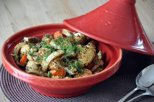 Morrocan Style roasted veggies