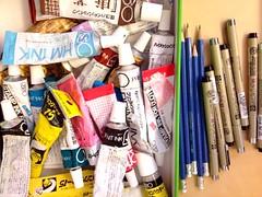 Print Gocco Inks, Pencils, Pens