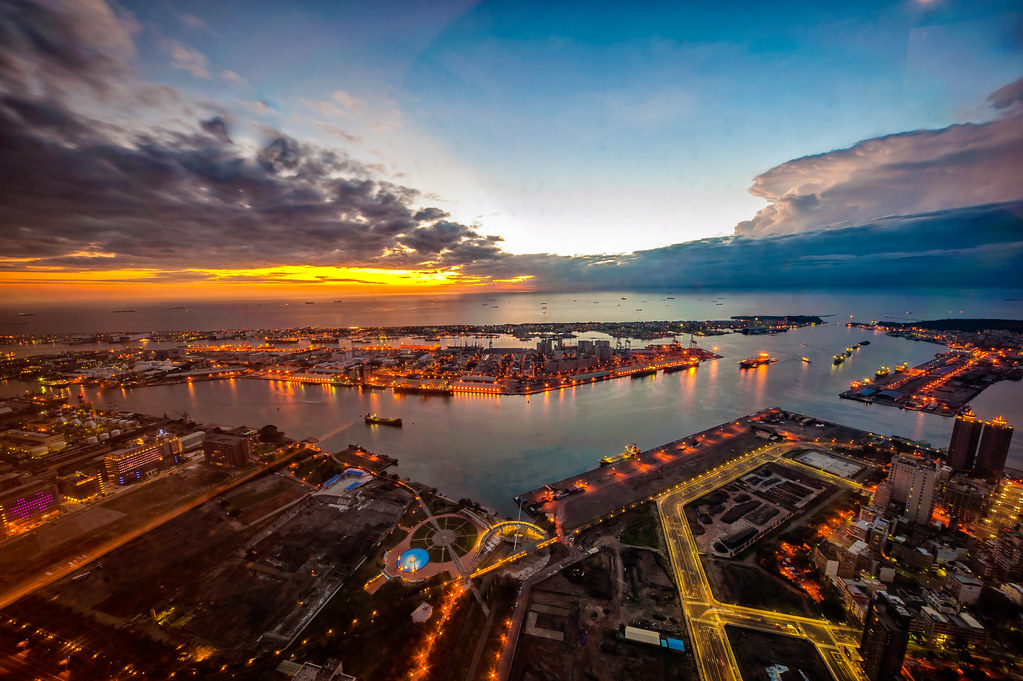 Kaohsiung Harbor sunset from the 85 Sky Tower 2
