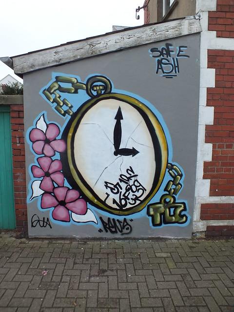 Enta art opposite Chapter Arts Centre