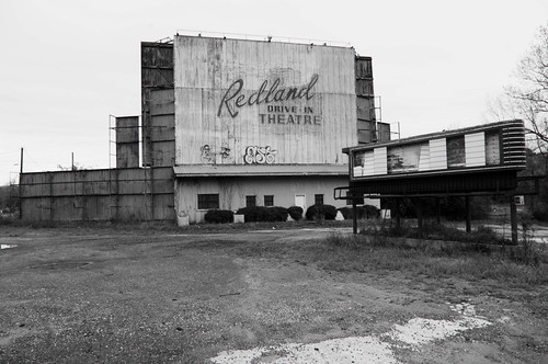 Abandoned drive-in theater