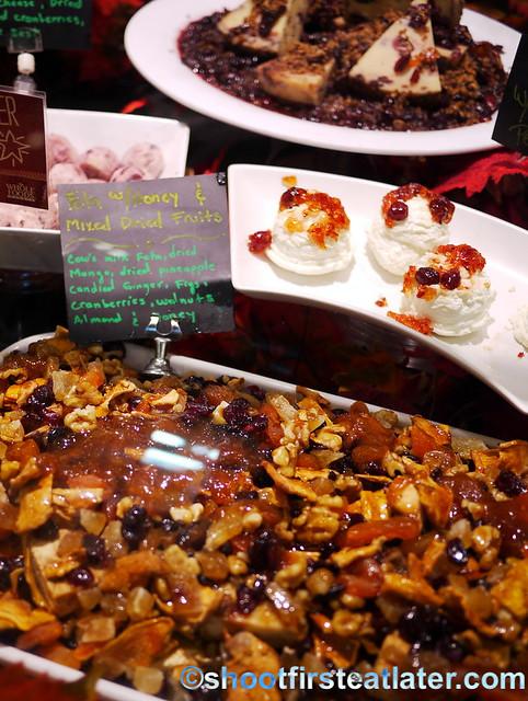 feta with honey & mixed dried fruits