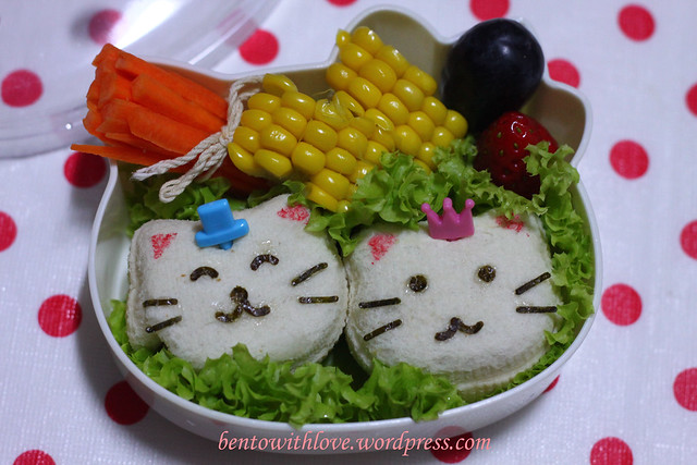 King and Queen Cats Bento