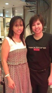 with Tricia stylist at Headzone
