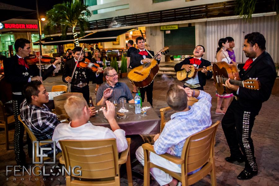 Mariachi Band Serenades the Groom | Jessica & John's Destination Wedding | Playa del Carmen, Mexico | Riviera Maya Quintana Roo Destination Wedding Photographer