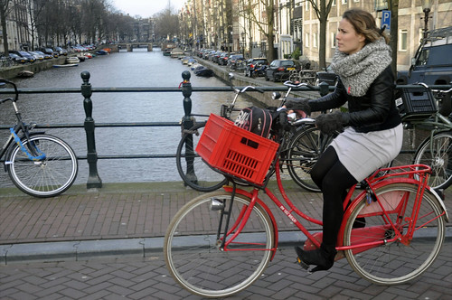 red Dutch bike - Amsterdam Cycle Chic by Aude