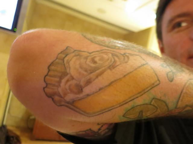 Chuck Hughes tattoo