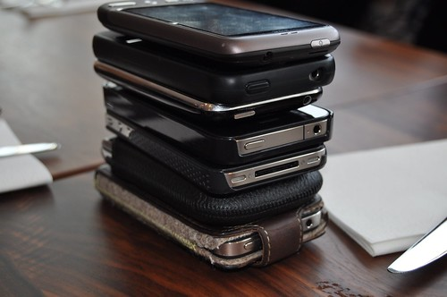 Phone stacking at #ECEU brainstorm by TNOC.photostream