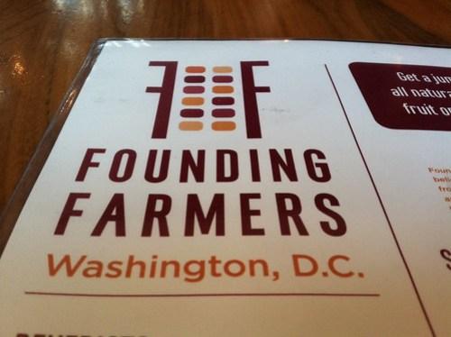 Founding Farmers Menu