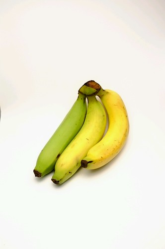 Banana in lighting box