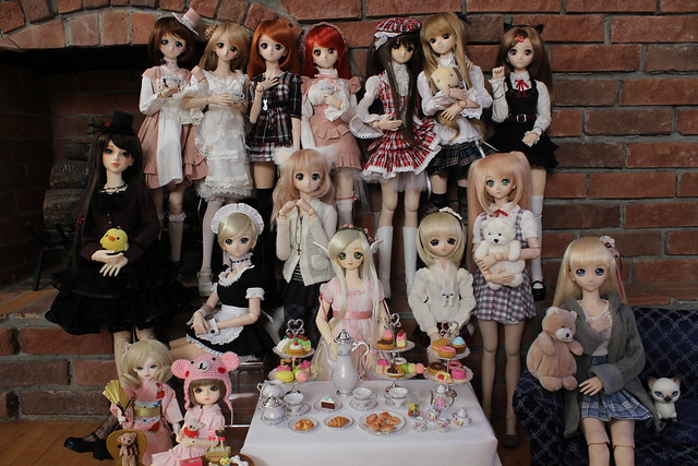 Doll Tea Party - with wardrobe changes!