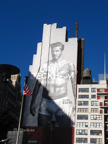 David Beckham's Wall Ad