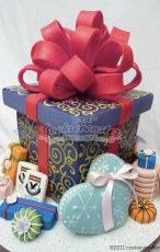 Gingerbread cookie GIFT BOX, with assorted cookies