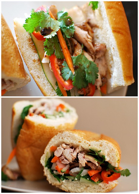 Bánh Mì Gà Nướng (Vietnamese Roasted Chicken Sandwich)
