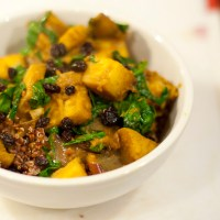 Curried Sweet Potato & Spinach Over Quinoa