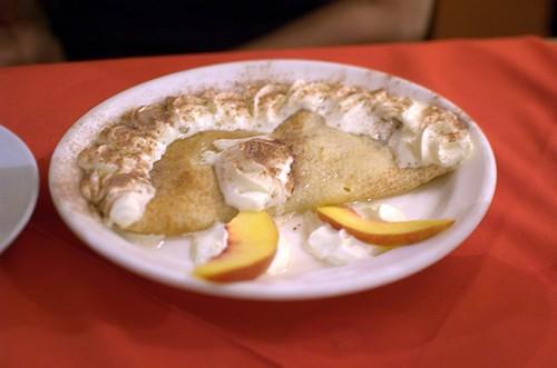 Peach pancake