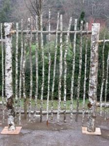 natural wood gate