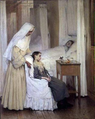 Sister nursing the sick